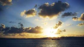 Ευσεβές ηλιοβασίλεμα εν πλω Στοκ Φωτογραφίες