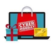 Δευτέρα Cyber Στοκ Εικόνες