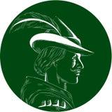 Δευτερεύουσα ξυλογραφία κύκλων σχεδιαγράμματος του Ρομπέν των Δασών Στοκ Εικόνες