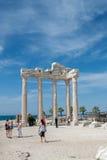 δευτερεύων ναός Τουρκία απόλλωνα antalya Στοκ Εικόνες