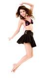 ευτυχές άλμα χορού στοκ εικόνα