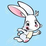 Χαριτωμένο bunny κινούμενων σχεδίων τρέξιμο Στοκ εικόνα με δικαίωμα ελεύθερης χρήσης