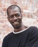 ευτυχές άτομο αφροαμερικάνων στοκ εικόνες