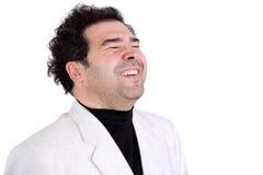Ευτυχές άτομο στο αυθόρμητο γέλιο Στοκ εικόνες με δικαίωμα ελεύθερης χρήσης