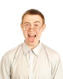 ευτυχές άτομο Στοκ φωτογραφία με δικαίωμα ελεύθερης χρήσης