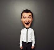 Ευτυχές άτομο Bighead Στοκ φωτογραφία με δικαίωμα ελεύθερης χρήσης