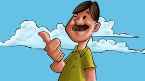ευτυχές άτομο mustache ελεύθερη απεικόνιση δικαιώματος