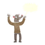 ευτυχές άτομο werewolf κινούμενων σχεδίων με τη λεκτική φυσαλίδα Στοκ εικόνες με δικαίωμα ελεύθερης χρήσης