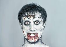 Ευτυχές άτομο zombie Στοκ φωτογραφία με δικαίωμα ελεύθερης χρήσης