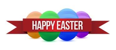 Ευτυχές έμβλημα Easters Στοκ φωτογραφίες με δικαίωμα ελεύθερης χρήσης
