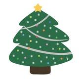 Ευτυχές δέντρο Χριστουγέννων και πεύκων Στοκ Φωτογραφίες