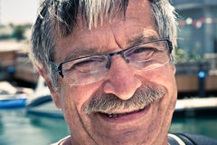Ευτυχές ανώτερο πρόσωπο ατόμων Στοκ Εικόνες