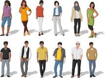 ευτυχές απομονωμένο άτομο ανασκόπησης πέρα από τις νεολαίες λευκών γυναικών ανθρώπων Στοκ Εικόνες
