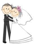 Ευτυχές γαμήλιο ζεύγος ελεύθερη απεικόνιση δικαιώματος