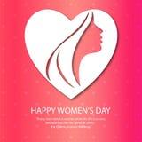 Ευτυχές γυναικών \ «s ημέρας διάνυσμα υποβάθρου σχεδίων ρόδινο Στοκ Εικόνες