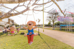 Ευτυχές γλυπτό παιδιών Στοκ εικόνες με δικαίωμα ελεύθερης χρήσης