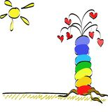 ευτυχές δέντρο Στοκ Εικόνες