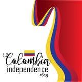 Ευτυχές διάνυσμα ημέρας της ανεξαρτησίας της Κολομβίας απεικόνιση αποθεμάτων