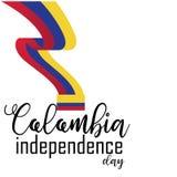 Ευτυχές διάνυσμα ημέρας της ανεξαρτησίας της Κολομβίας διανυσματική απεικόνιση
