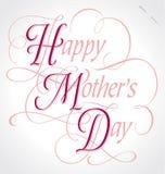 ευτυχές διάνυσμα μητέρων s εγγραφής χεριών ημέρας Στοκ Εικόνα