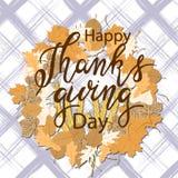Ευτυχές διανυσματικό σχέδιο ημέρας των ευχαριστιών ελεύθερη απεικόνιση δικαιώματος
