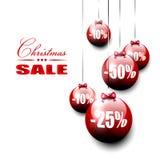ευτυχές λευκό αγορών πώλησης κοριτσιών Χριστουγέννων ανασκόπησης Στοκ Εικόνα