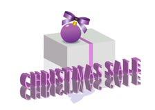ευτυχές λευκό αγορών πώλησης κοριτσιών Χριστουγέννων ανασκόπησης Στοκ Εικόνες