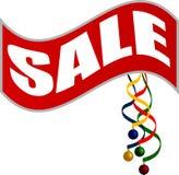 ευτυχές λευκό αγορών πώλησης κοριτσιών Χριστουγέννων ανασκόπησης Στοκ Φωτογραφίες