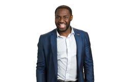 Ευτυχές ευρύ χαμόγελο επιχειρηματιών Στοκ Εικόνες