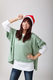Ευτυχές εύθυμο κορίτσι Χριστουγέννων Στοκ εικόνα με δικαίωμα ελεύθερης χρήσης