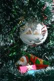 ευτυχές εύθυμο νέο έτος Χριστουγέννων Στοκ Εικόνα