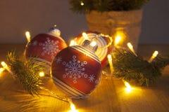 ευτυχές εύθυμο νέο έτος Χριστουγέννων Στοκ φωτογραφία με δικαίωμα ελεύθερης χρήσης