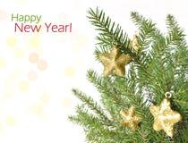 ευτυχές εύθυμο νέο έτος &Chi Στοκ Φωτογραφίες