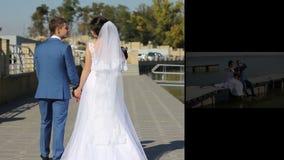 Ευτυχές ζεύγος στο γάμο - απόθεμα βίντεο