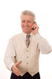 Ευτυχές ηλικιωμένο άτομο Στοκ φωτογραφία με δικαίωμα ελεύθερης χρήσης