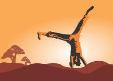Ευτυχές δημιουργικό πορτοκάλι έννοιας Helth Στοκ εικόνα με δικαίωμα ελεύθερης χρήσης