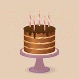 Ευτυχές κέικ γενεθλίων. Στοκ Φωτογραφία