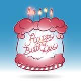 Ευτυχές κέικ ημέρας γέννησης απεικόνιση αποθεμάτων