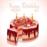Ευτυχές κέικ Στοκ εικόνα με δικαίωμα ελεύθερης χρήσης