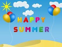Ευτυχές καλοκαίρι διανυσματική απεικόνιση