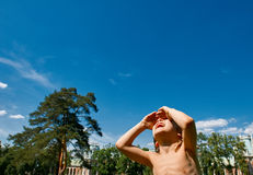 ευτυχές κατσίκι υπαίθρι&om Στοκ φωτογραφία με δικαίωμα ελεύθερης χρήσης