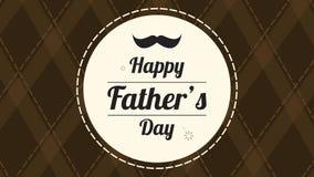 Ευτυχές καφετί υπόβαθρο ημέρας πατέρων απόθεμα βίντεο
