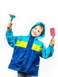 Ευτυχές καλλιεργώντας αγόρι άνοιξη Στοκ φωτογραφία με δικαίωμα ελεύθερης χρήσης
