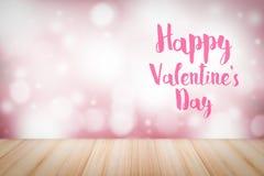 Ευτυχές κείμενο ημέρας βαλεντίνων ` s στο υπόβαθρο θαμπάδων Μπορέστε να χρησιμοποιηθείτε στις αγγελίες για την αγάπη στοκ εικόνες