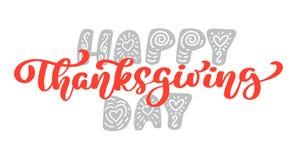 Ευτυχές κείμενο καλλιγραφίας ημέρας των ευχαριστιών, διευκρινισμένη διάνυσμα τυπογραφία που απομονώνεται στο άσπρο υπόβαθρο Θετικ Στοκ φωτογραφίες με δικαίωμα ελεύθερης χρήσης