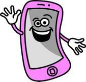 ευτυχές κινητό τηλέφωνο Στοκ εικόνες με δικαίωμα ελεύθερης χρήσης