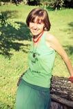 Ευτυχές κορίτσι hippie Στοκ φωτογραφίες με δικαίωμα ελεύθερης χρήσης