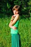 Ευτυχές κορίτσι hippie Στοκ φωτογραφία με δικαίωμα ελεύθερης χρήσης