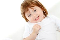 Ευτυχές κοριτσάκι Στοκ Εικόνες