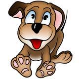 ευτυχές κουτάβι σκυλιών διανυσματική απεικόνιση